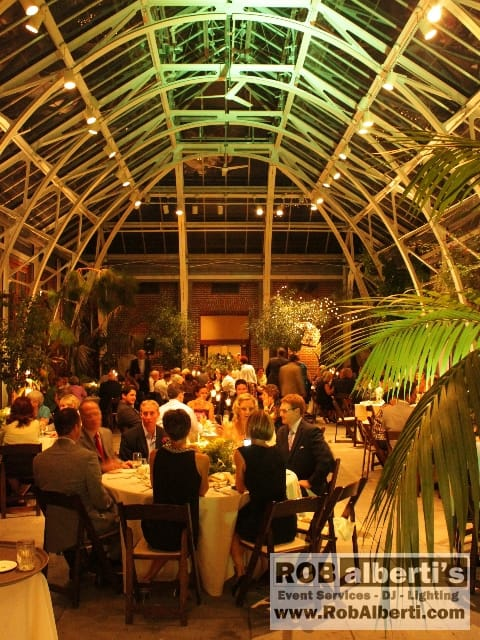 rob alberti is owner of rob albertis event services wedding disc jockey mc wedding event director wedding event lighting design - Tower Hill Botanic Garden Wedding