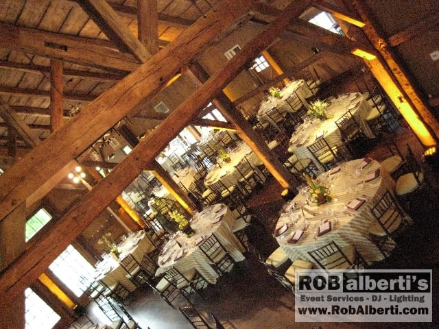 Dinner was in the Gordon Brown House Barn Wedding setting where we