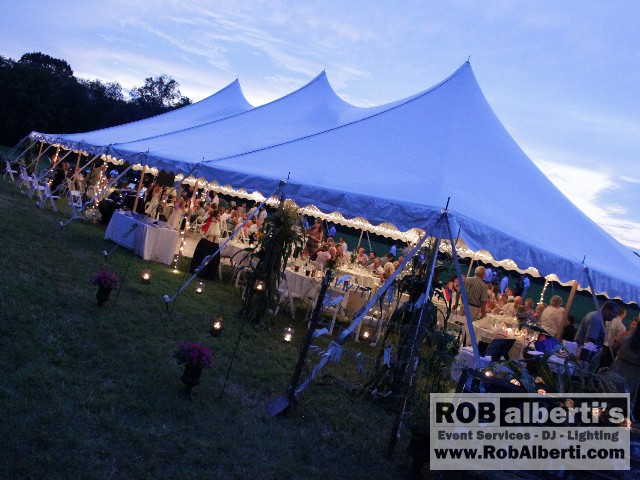 Vendors & Becky u0026 Bobu0027s Wedding Reception - under tent in Hadley MA | Rob ...