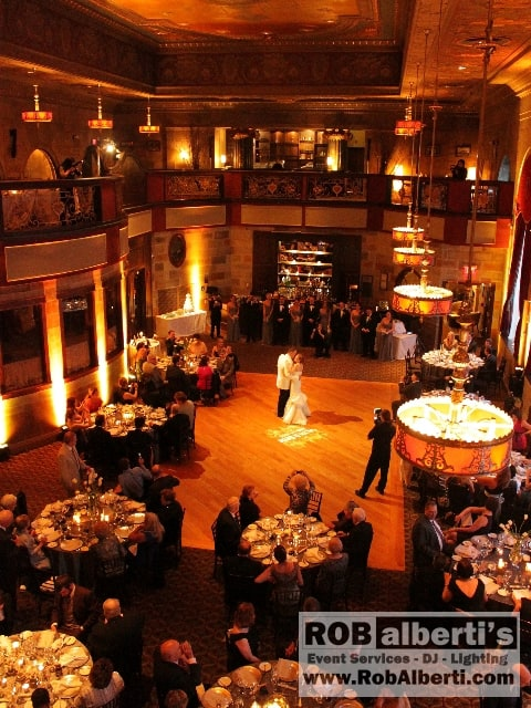 We were contracted to provide lighting for their wedding