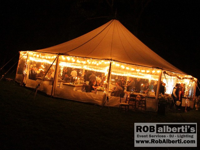 Tent Wedding - Twilight String Lights Rob Alberti s Event Services - 413-562-2632