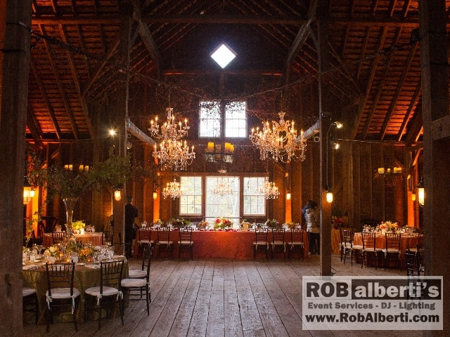 Stonover Farm Lenox Ma Wedding Lighting Rob Alberti S