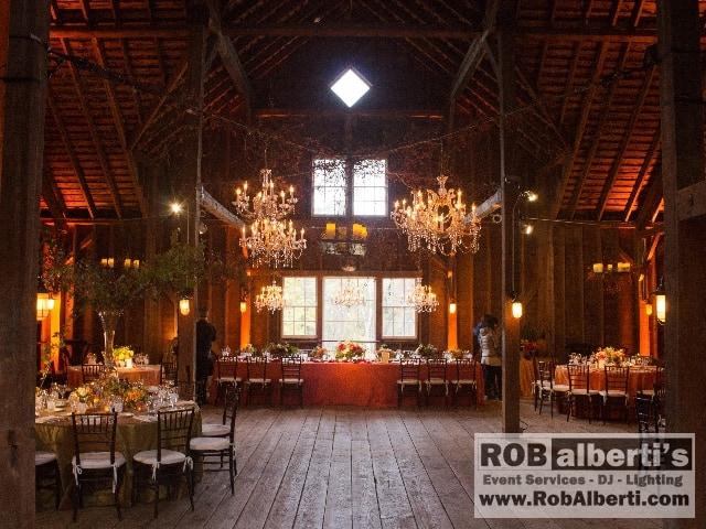 Stonover Farm Lenox Ma Wedding Lighting Rob Alberti S