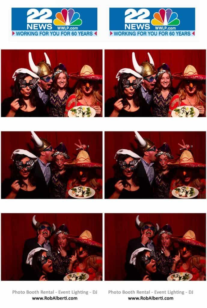 Channel 22 WWLP Photo Booth at The Log Cabin in Holyoke MA