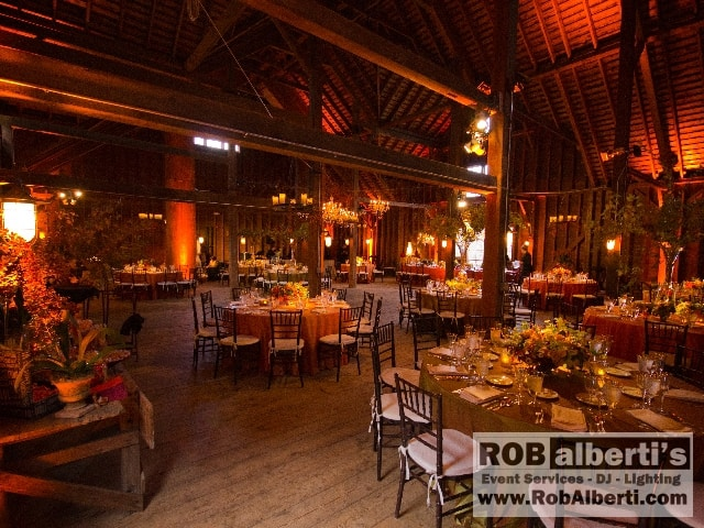 Rob alberti s event services supplies lighting for barn for Lenox ma wedding venues