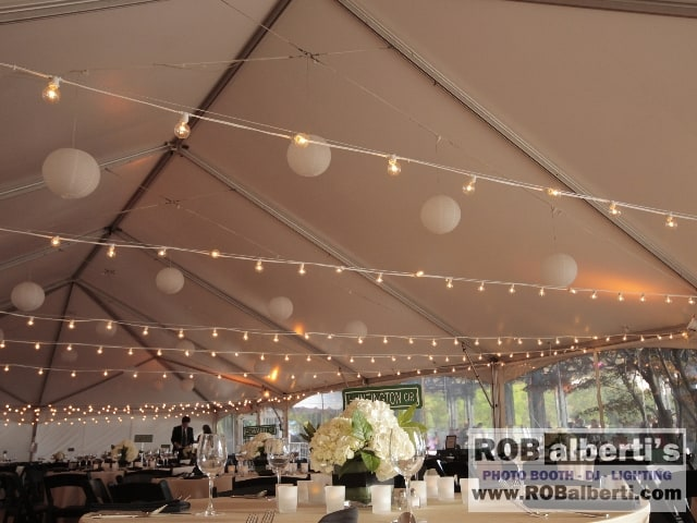 String Lights Tent Wedding : Boston Science Museum Wedding - Bistro String Lights - Boston MA - Charles River - Tented ...