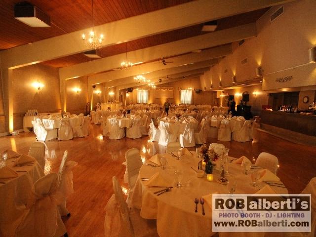 Ludlow Polish American Club MA Wedding Lighting Photos