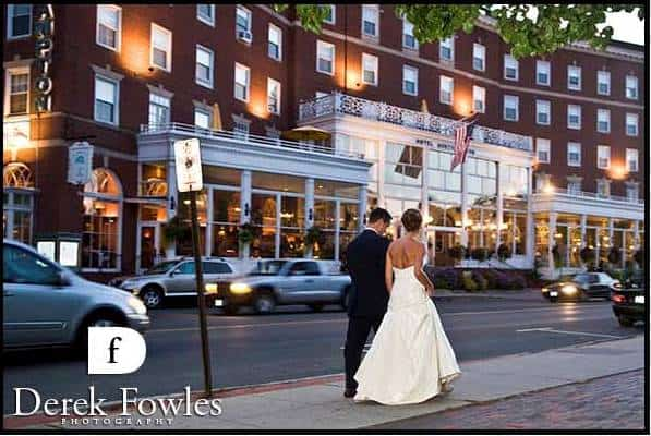 Emily Nate Stroll Outside The Hotel Northampton On Their Wedding Day Beautiful Image From