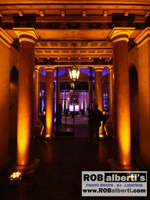 Glenmere Mansion Chester Ny Wedding Reception Lighting
