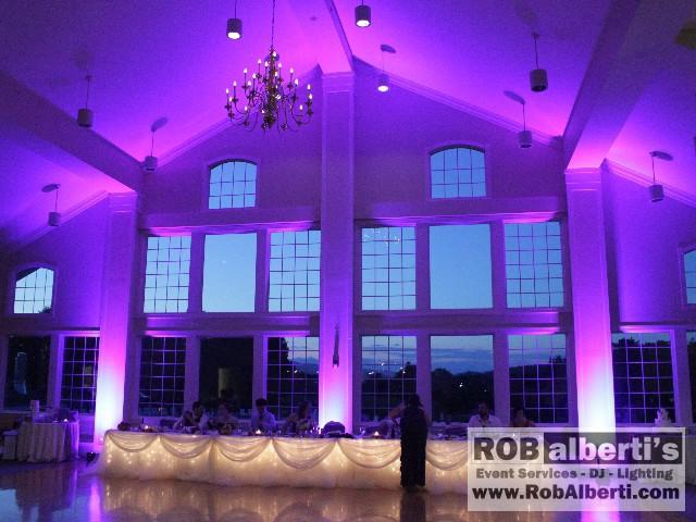 Berkshire Hills Country Club - Purple Up-lighting