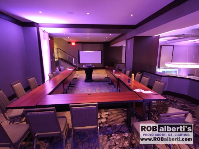 One of 6 breakout rooms - PA, A/V Projector and screen