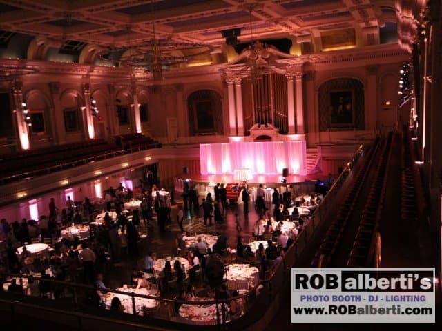 Mechanics Hall - Rose Up-lighting