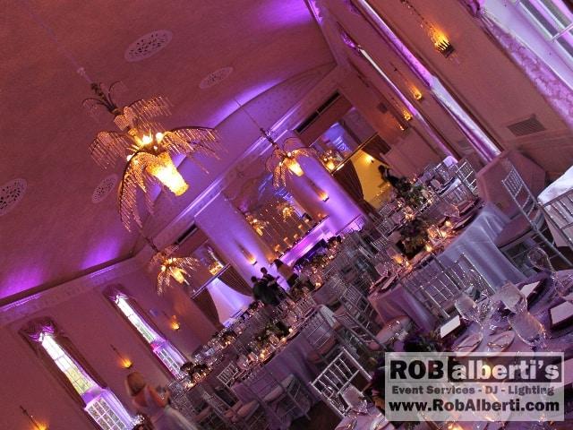 New Haven Lawn Club - Light Purple Up-lighting
