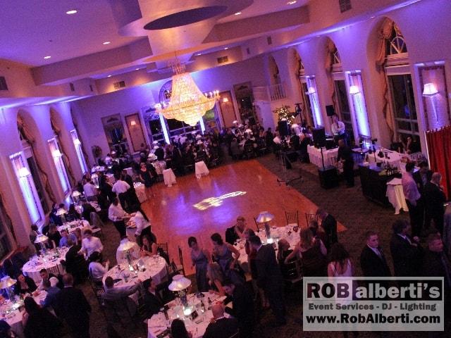 The Bond Ballroom - Purple up-lighting