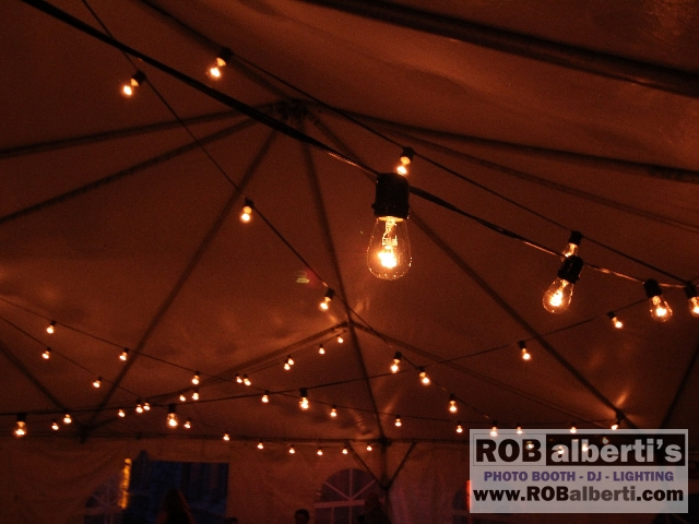 Edison String Lights - Tent Wedding & Tent or Barn Wedding Lighting Options - Rob Albertiu0027s Event ...