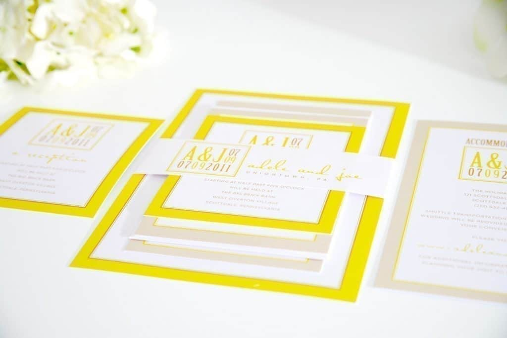 bright yellow wedding invitations - 28 images - bright yellow floral ...