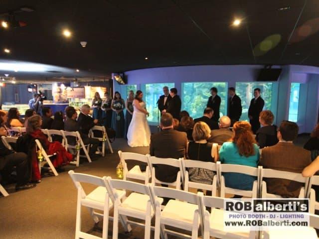 Juliet Amp Evan S Wedding Reception Mystic Aquarium