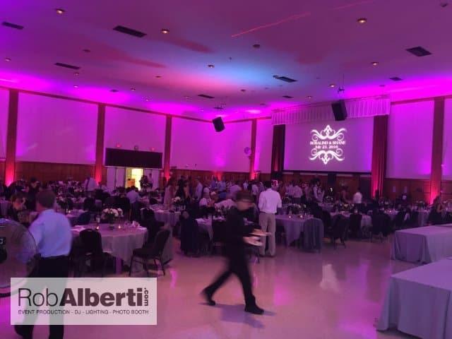 Umass Ballroom Wedding Reception Dj Up Lighting Rob