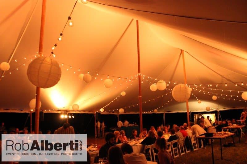 Tyringham MA Wedding Tent Lighting | Rob Albertiu0027s Event Services - 413-562-2632 & Tyringham MA Wedding Tent Lighting | Rob Albertiu0027s Event Services ...