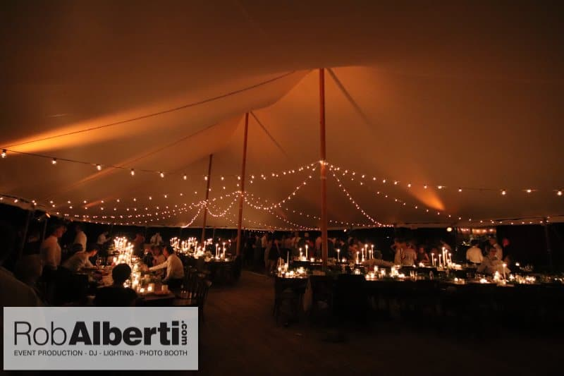 Ariane Jonathan S Hudson Valley Wedding Tent Lighting